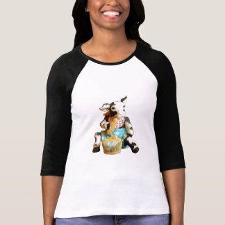 Cow Eating Corn in a Basket T-Shirt