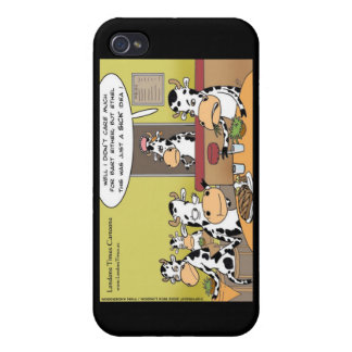 Cow Eats Husband Funny Gifts Mugs & Cards iPhone 4/4S Cover