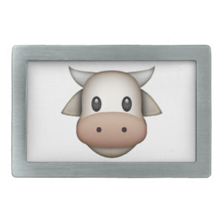 Cow - Emoji Rectangular Belt Buckle