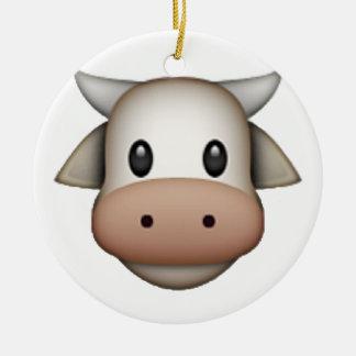 Cow - Emoji Round Ceramic Decoration
