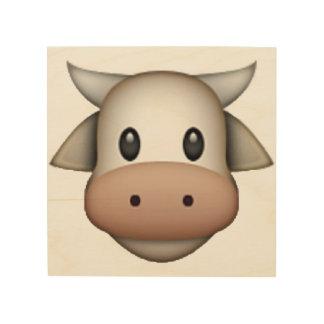 Cow - Emoji Wood Canvases