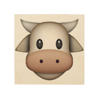 Cow - Emoji Wood Wall Art