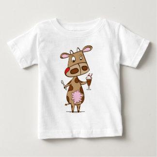 Cow enjoying a milkshake t shirts