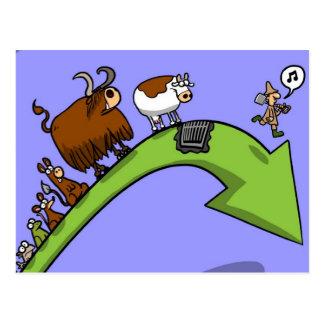 Cow Evolution Postcard