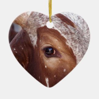 Cow Eye Ceramic Heart Decoration