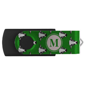Cow Face Pattern with Customisable Monogram Swivel USB 2.0 Flash Drive