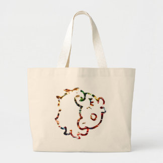 Cow Face   - Sparkling Red Tote Bag