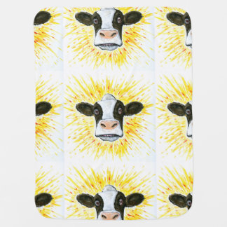 Cow Face Swaddle Blankets