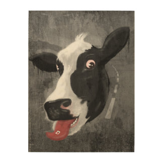 Cow Face Wood Canvases