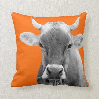 Cow farm animal livestock bovine cattle photo cushion