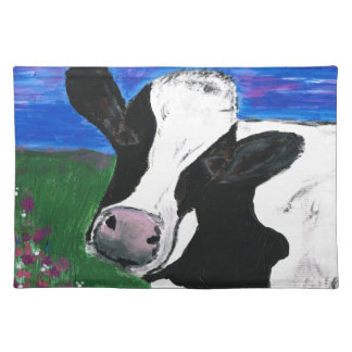 Cow, Farm, Animal, rural, hand painted calf. Placemat
