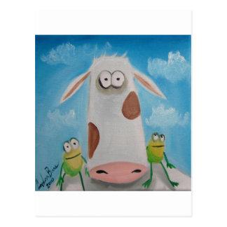 COW FROGS Gordon Bruce Postcard