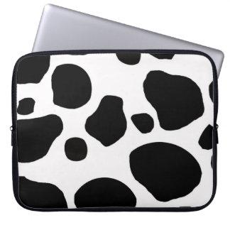 Cow fur skin hide cute nature animal pattern laptop sleeve