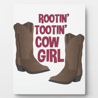 Cow Girl Display Plaque
