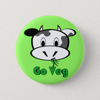 Cow Go Veg 6 Cm Round Badge