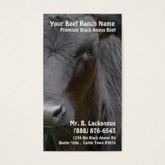 Cow Head  Black Angus Beef Ranch Business Card