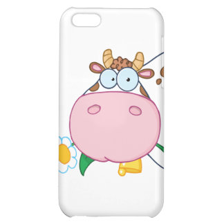 Cow Head Cartoon Character Case For iPhone 5C