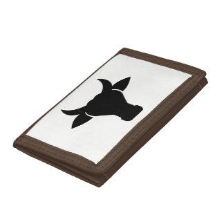 Cow Head Silhouette Tri-fold Wallets