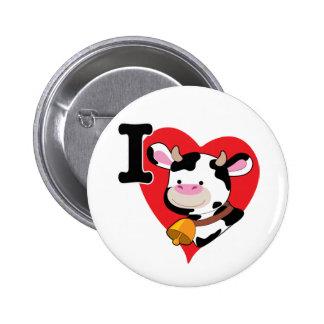 Cow Heart 6 Cm Round Badge