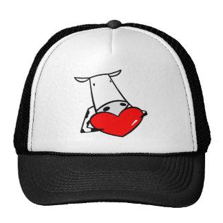 Cow Heart Valentine I Love Cows Trucker Hat