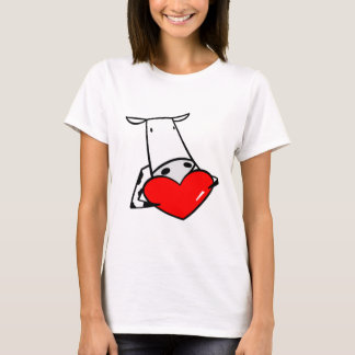 Cow Heart Valentine I Love Cows T-Shirt