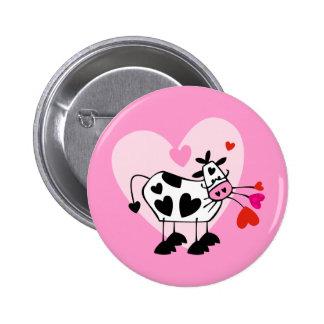 Cow Hearts 6 Cm Round Badge