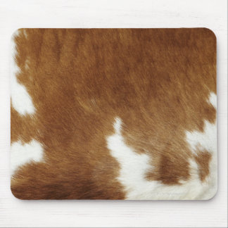 Cow hide mouse pads