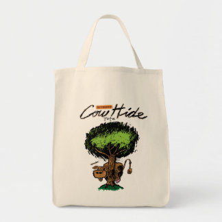 Cow Hide Organic Grocery Tote Canvas Bags