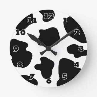 Cow hide pattern wall clock | Funny animal print
