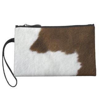 COW HIDE PRINT Mini Clutch Bag Wristlet Purses