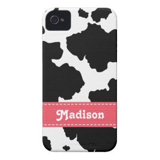 Cow Hide Spots iPhone 4 Case Mate Pink