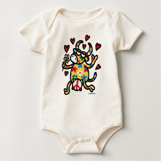 Cow Hippie Baby Bodysuit