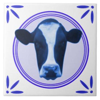 Cow Holland Delftware-Delft-Blue-Look Printed Ceramic Tile