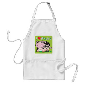 Cow I love grass Apron
