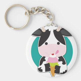 Cow Ice Cream Key Chains