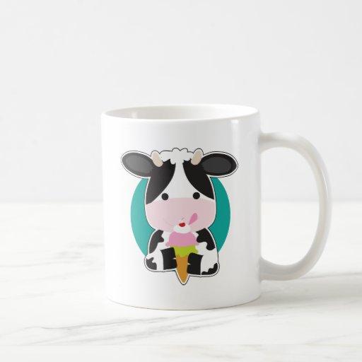 Cow Ice Cream Coffee Mugs