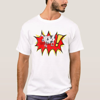 Cow in a KAPOW starburst T-Shirt