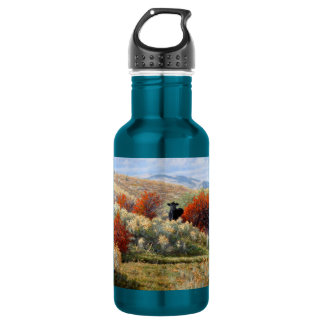 Cow in Fall Setting Water Bottle