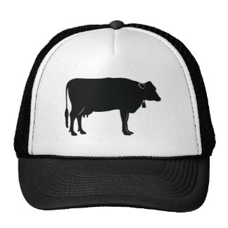 Cow in Silhouette Happy Birthday Cap