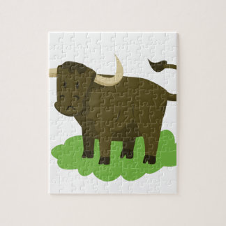 cow in the grass jigsaw puzzle
