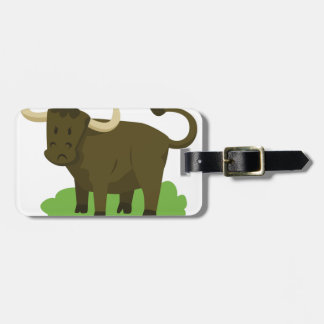 cow in the grass luggage tag