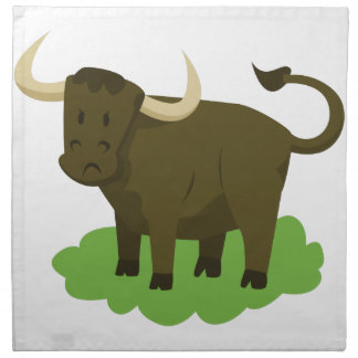 cow in the grass napkin