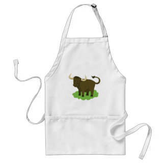 cow in the grass standard apron