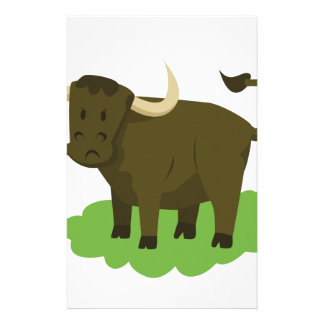 cow in the grass stationery
