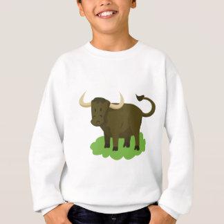 cow in the grass sweatshirt