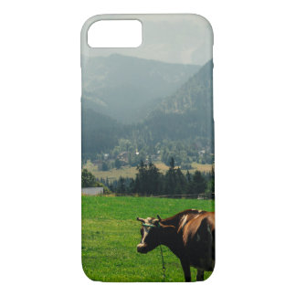Cow In The Mountains Nature Landscape Photo iPhone 7 Case