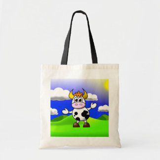 Cow is Here Tote Bags
