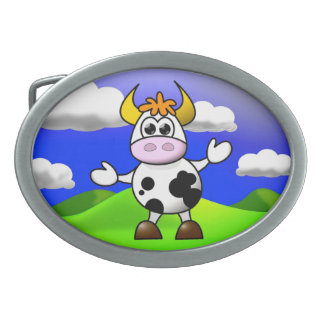 Cow is Here Belt Buckles