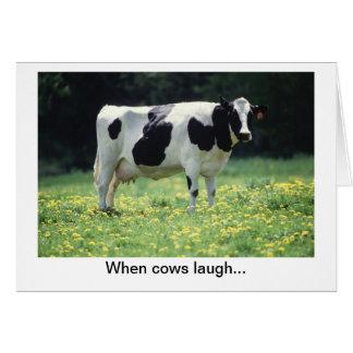 Cow Jokes Card