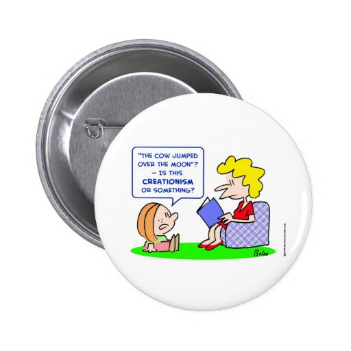 cow jumped over moon creationism pin